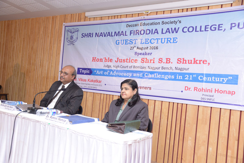 Guest Lecture by Justice. S. B. Shukre