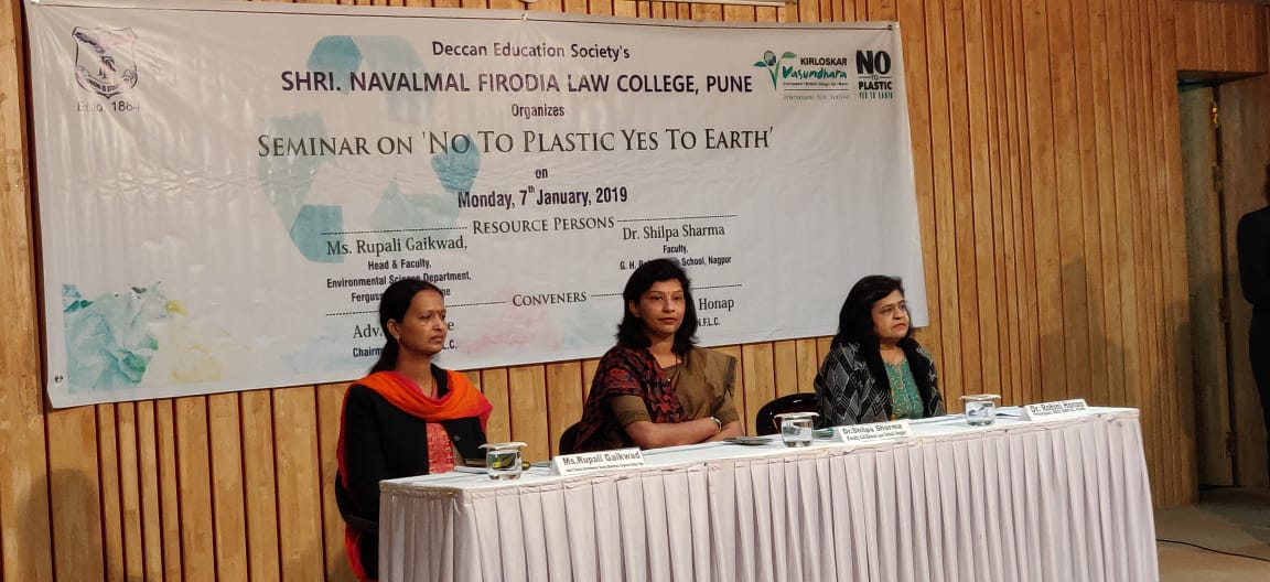 One day seminar on 'No to Plastic Yes to Earth'